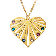 mom heart gold plated necklace with