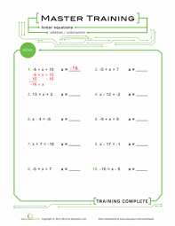 linear equations add and subtract