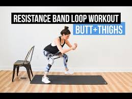 resistance band loop sut workout