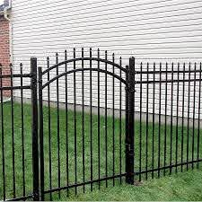 China Metal Fence Gate Panel Fence Gate Aluminum Fence Steel Fence Single Garden Fence Gates China Door Metal Door