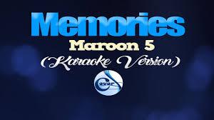 MEMORIES - Maroon 5 (KARAOKE VERSION) - YouTube
