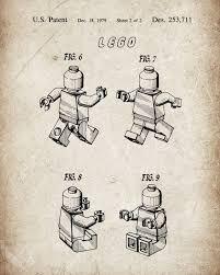 Lego Patent Posters Lego Patent Printable Lego Toys Lego Poster Kids Room Wall Art Nursery Decor Lego Films Blueprint