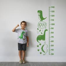 Growth Chart Sticker Dino Bambino Height Chart Wall Sticker Ruler Vinyl Decal Nursery Decor Kids Room Decor Modern Decal