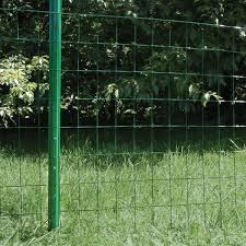 Everbilt 1 In X 3 In X 7 Ft Green Steel U Fence Post 901157eb The Home Depot