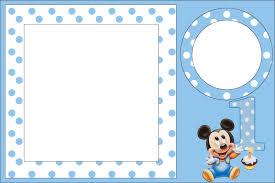 Invitaciones Mickey Mouse Bebe Para Editar