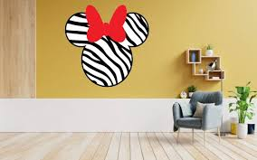 Design With Vinyl Minnie Mouse Zebra Cartoon Character Decors Wall Sticker Art Design Decal For Girls Boys Kids Room Home Decor Stickers Wall Art Vinyl 10x10 Inch Wayfair