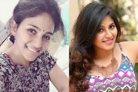 actress anjali no make up look