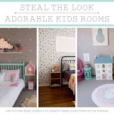 Steal The Look Adorable Kids Rooms Stencil Stories