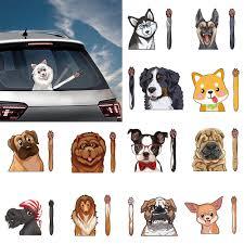 Cartoon Animal Dog Wiper Stickers Car Stickers And Deacals Window Wiper Decals Rear Windshield Stickers For Car Accessories Car Stickers Aliexpress