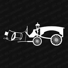 Haunted Mansion Hearse Vinyl Decal The Stickermart