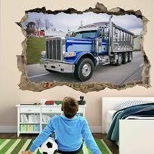 American Dump Truck 3d Wall Art Sticker Decal Kids Boys Room Decor Gz1 Ebay