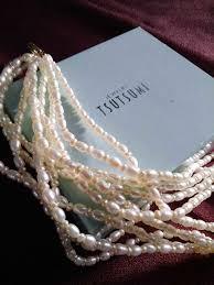 tsutsumi jewelry rice pearl necklace