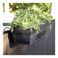 Rectangular Rail Hook In Garden Patio Crate And Barrel Balcony Herb Gardens Planters Outdoor Planters