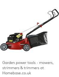 warning garden power tools mowers