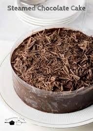 eggless steamed chocolate cake easy