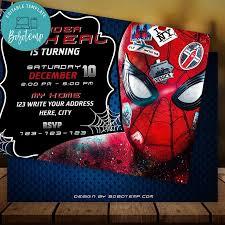 Editable Spider Man Far From Home Invitacion Descarga Instantanea