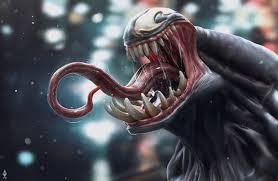 wallpaper 4k venom tongue art 4k