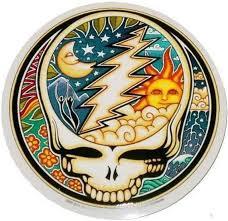 Stealie Sun And Moon Grateful Dead Sticker Hippie Sticker Grateful Dead Merchandise