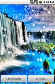 3d waterfall live wallpaper for android