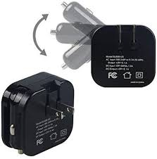 com usb wall car charger combo