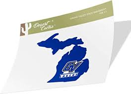 Amazon Com Grand Valley State University Gvsu Lakers Ncaa Vinyl Decal Laptop Water Bottle Car Scrapbook State Boarder Sticker Arts Crafts Sewing