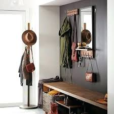 entryway mirror with hooks hermanho co
