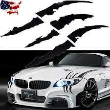 Black Scratch Claw Monster Car Vinyl Decal Eye Catching Sticker Headlight Decor Ebay