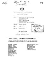 Motion to Disqualify - Special Court for Sierra Leone
