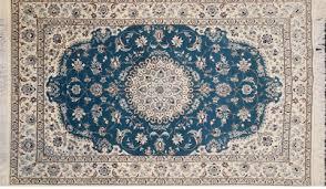 iranian carpet persian nain blue 6la