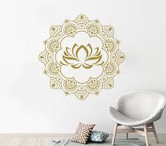 Mandala Wall Decals Mehndi Sticker Mandala Wall Art Gold Etsy
