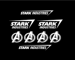 Set Of 8 Stark Industries Iron Man Avengers Marvel Vinyl Car Decal Sticker Stark Industries Car Decals Vinyl Car Decals Stickers