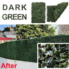 1pack Artificial Boxwood Panels Topiary Hedge Plants Artificial Greenery Fence Panels For Greenery Walls Garden Privacy Screen Backyard And Home Decor Wish