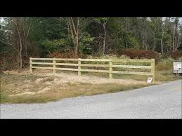 Building Fence And Gates At Property Entrance Part 1 Of 2 Youtube