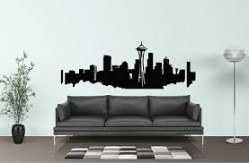 Seattle Skyline Seattle Decal Seattle Wall Art Space Needle Wall Decal