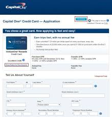 how to apply capital one credit card