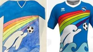 Pescara football club adopts Italian boy's shirt design - BBC News