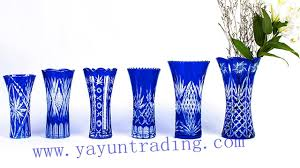 hand cut bohemian cobalt blue large