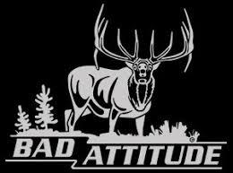 Amazon Com Bad Attitude Elk Hunting Automotive Window Decal Elk Wall Decal Adhesive Vinyl Automotive