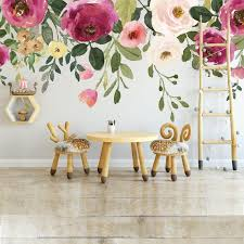 Jessica S Farmhouse Floral Wall Decal Peonies Roses Wall Etsy