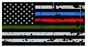 Police Decals Stickers Tattered Police Fire Thin Blue Red Line Reflective Flag Decal 4 Wide Collectibles 3 Pack Zsco Iq