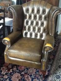 queen anne style arm chair vintage