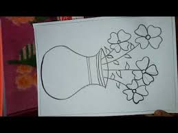 easy flower pot drawing you