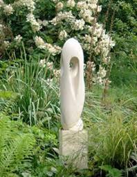 sculpture white fish of gozo modern