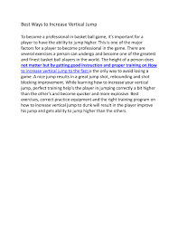 vertical jump powerpoint presentation