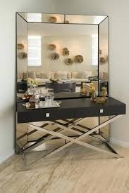 modern console table with mirror set
