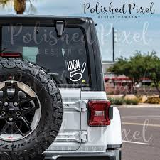 High 5 Vinyl Decal Handlettered High Five Sticker Jeep Wave Etsy