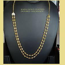 long necklace 22k gold plated kapa