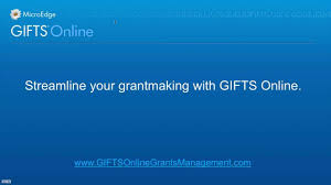 gifts grants management system
