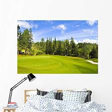 Amazon Com Wallmonkeys Golf Course Wall Decal Peel And Stick Graphic Wm50676 60 In W X 40 In H Home Kitchen