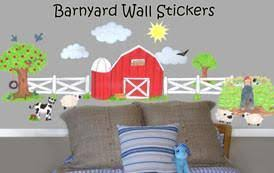 Barnyard Farm Animals Wall Stickers For Childrens Room Walls
